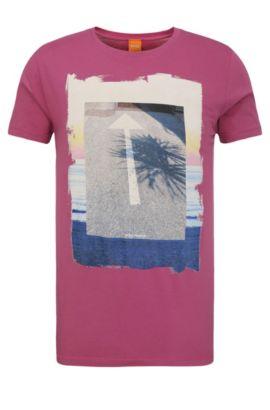 Regular-fit print t-shirt in cotton: 'Tintype 2', Pink