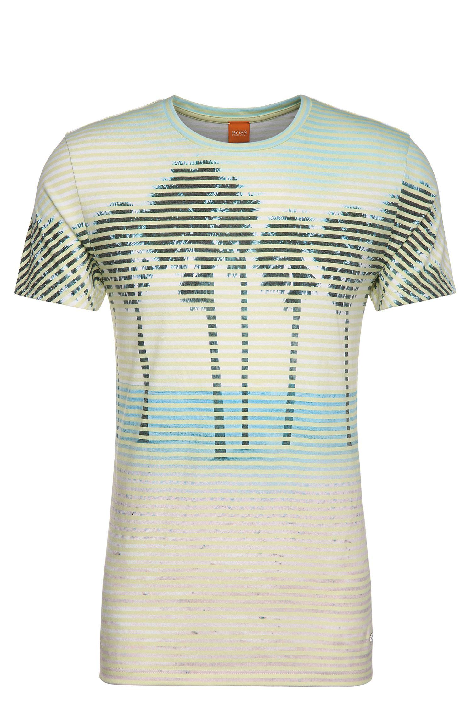 T-shirt met print, van een materiaalmix met katoen: 'Telling'