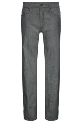 Jeans tapered fit in cotone elasticizzato: 'Orange90', Grigio scuro