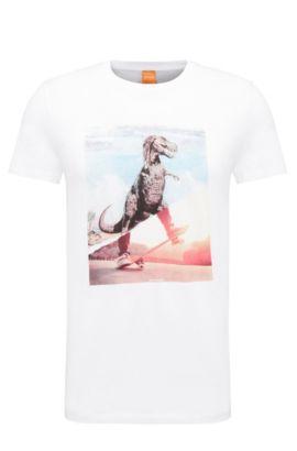 Regular-Fit Print-Shirt aus Baumwolle: ´Tintype 4`, Weiß