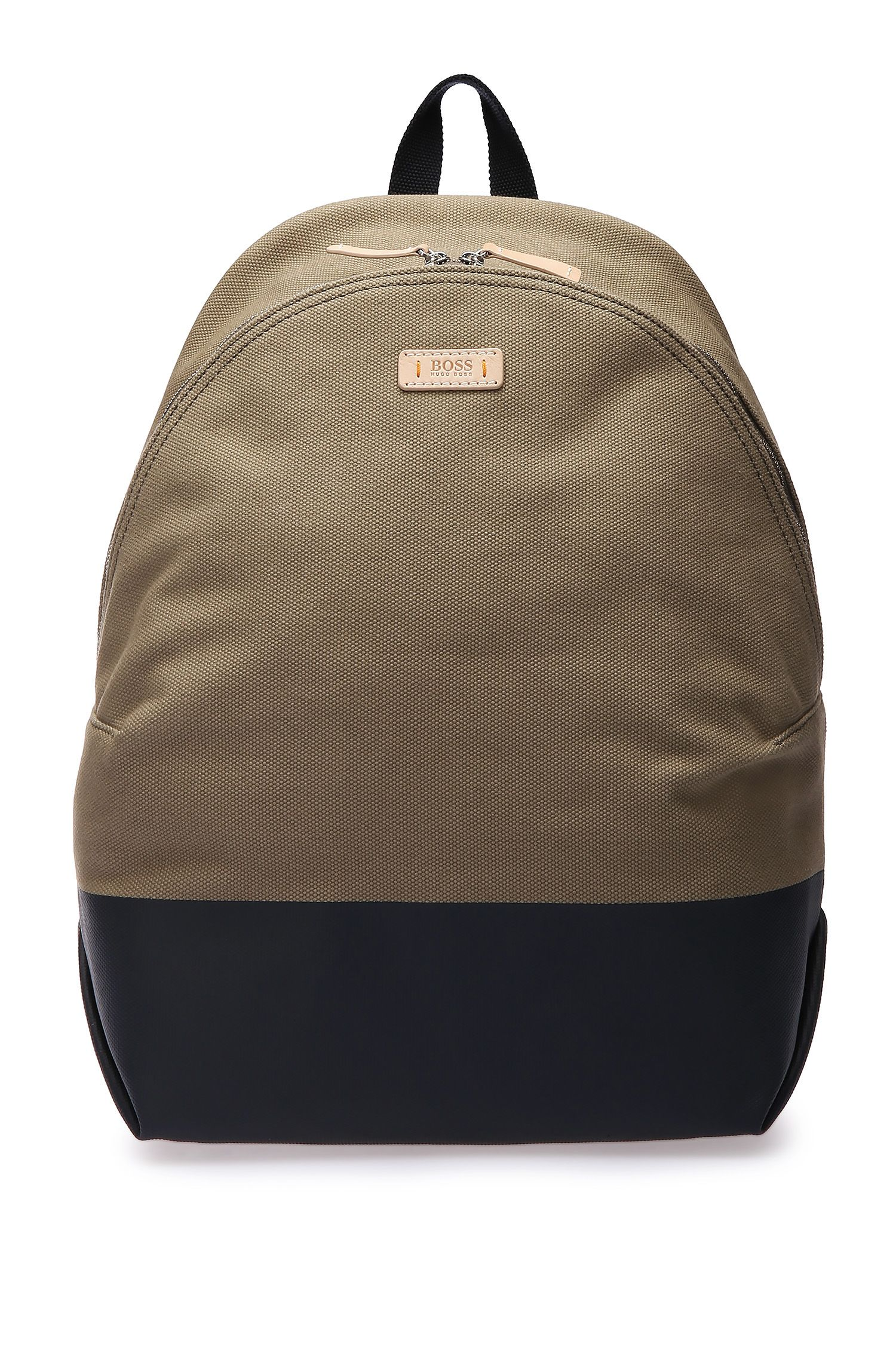 Sac à dos en coton structuré : « Lightime_Backpack »