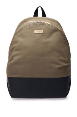 Sac à dos en coton structuré : « Lightime_Backpack », Beige