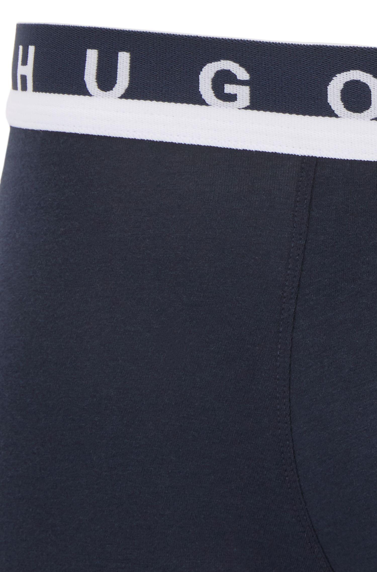 Boxershorts aus Stretch-Jersey mit Logo-Print am Bund
