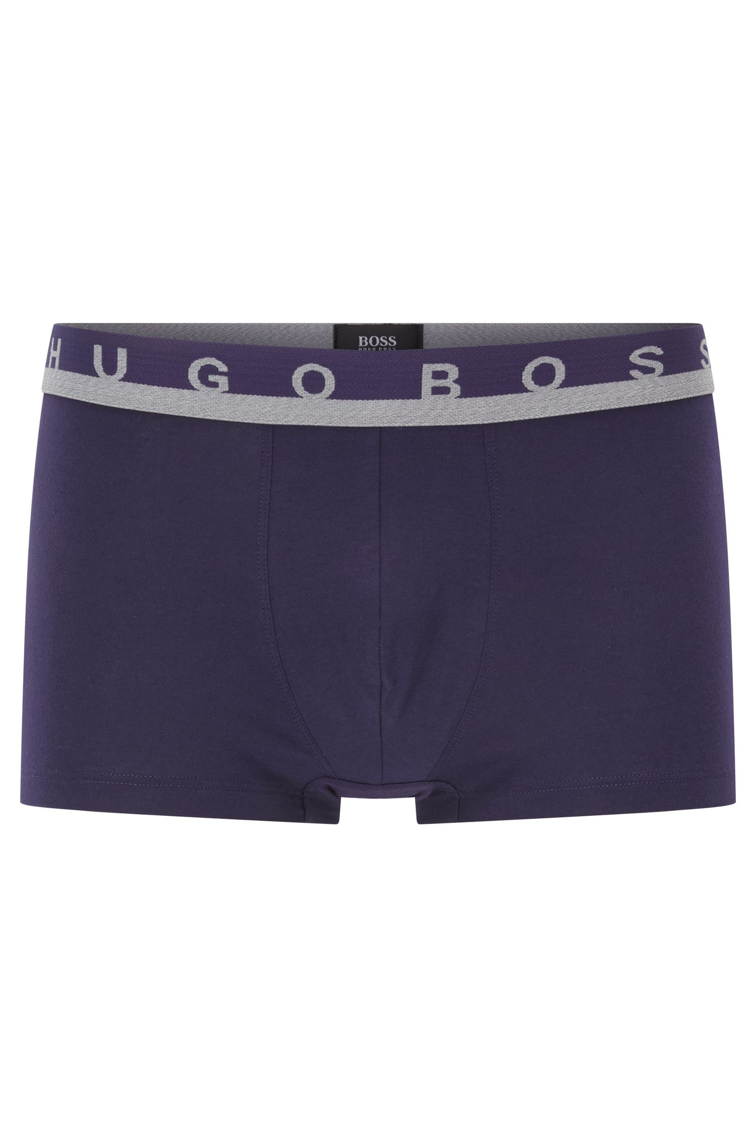 Logo-waistband trunks in stretch-cotton jersey