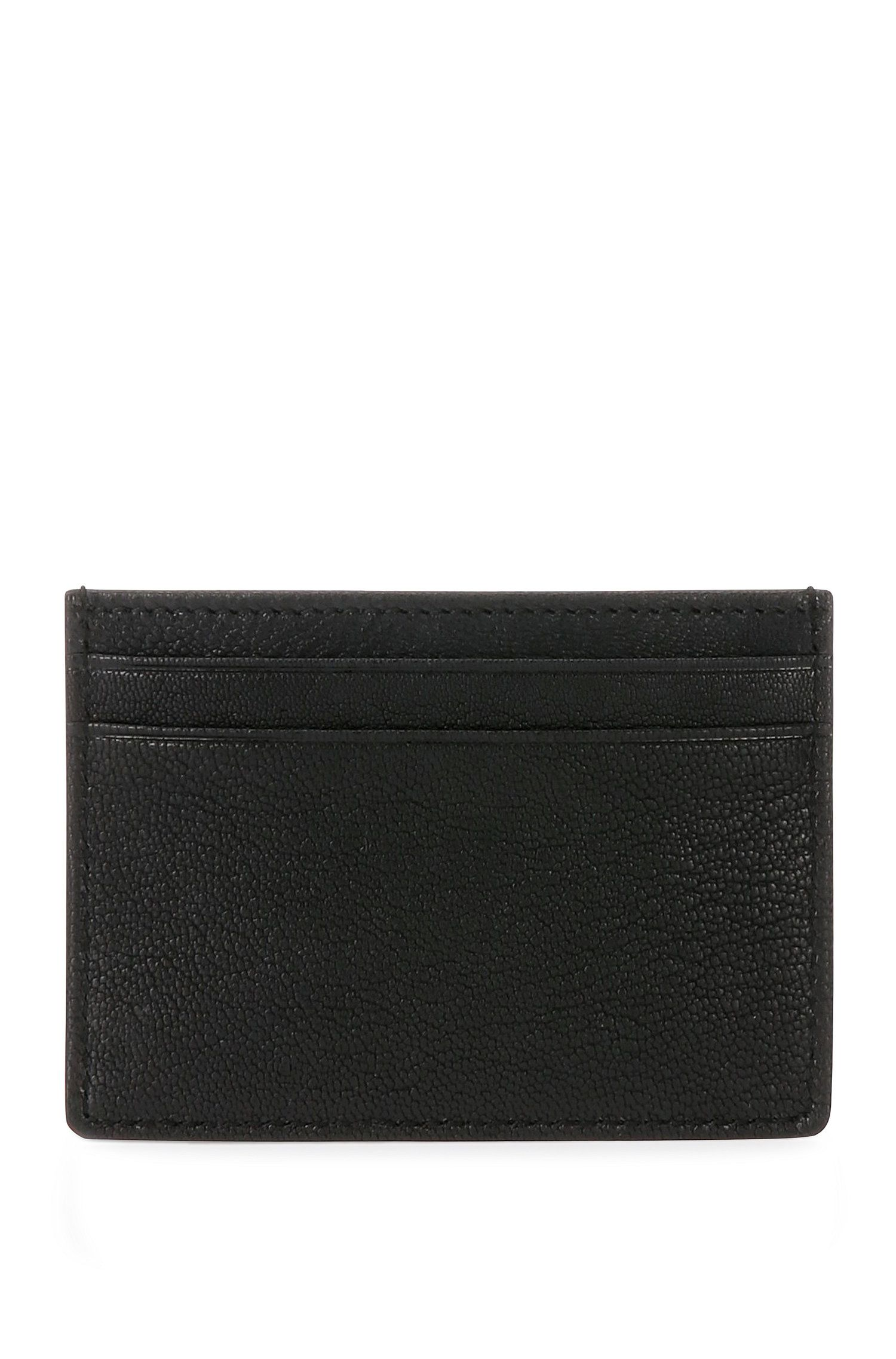 Grained leather card case: 'Streetline_S card'