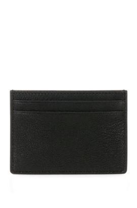Grained leather card case: 'Streetline_S card', Black
