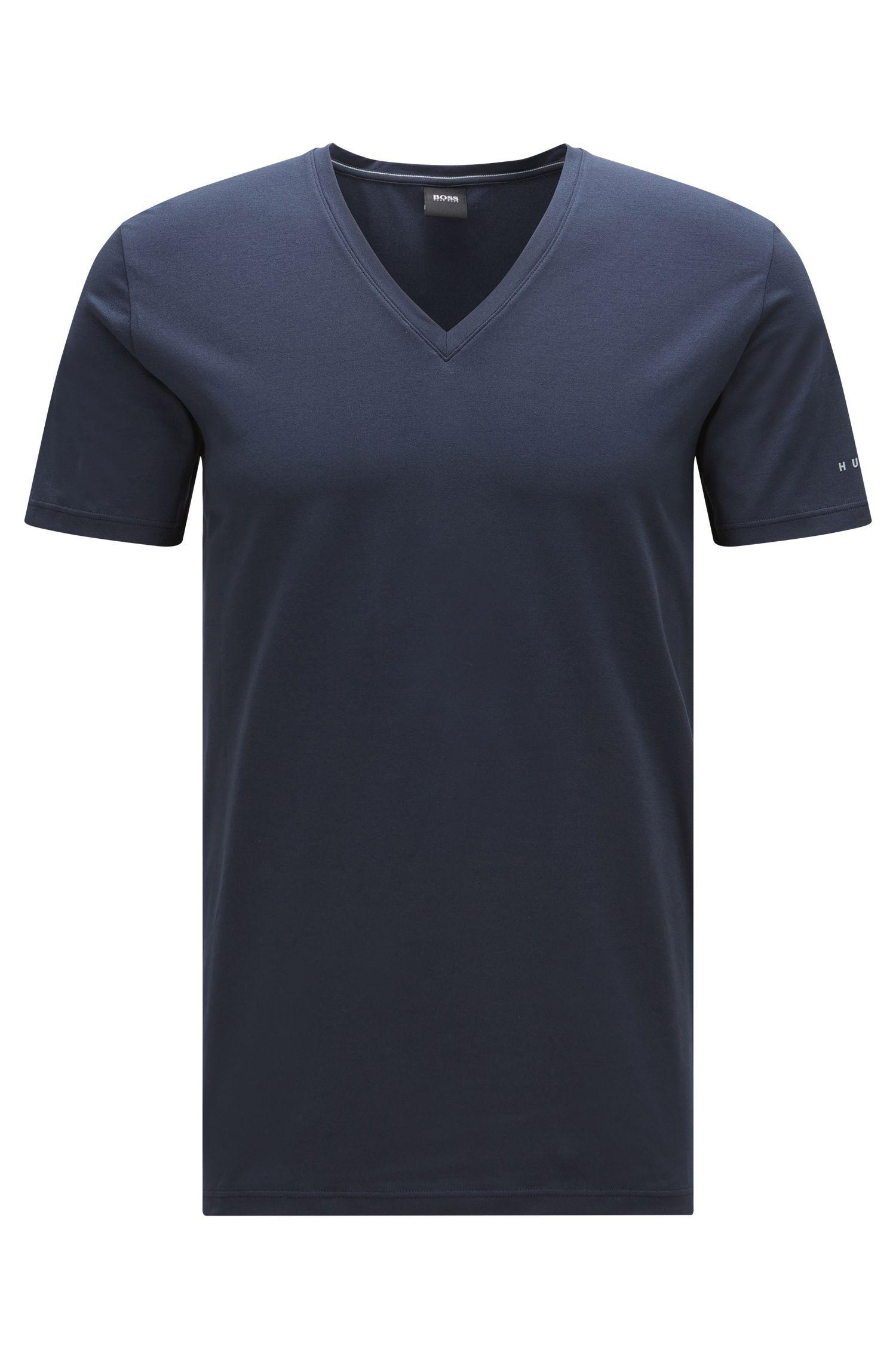 T-shirt uit de Travel Line-collectie, van een elastische, ademende katoenmix: 'T-Shirt VN Cotton+ '