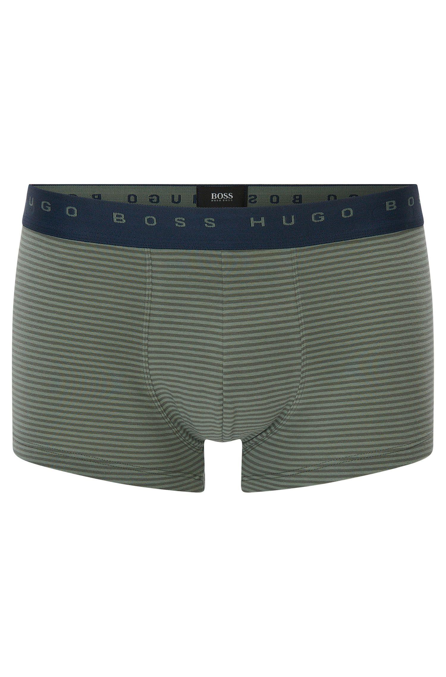 Striped boxer shorts in stretch cotton: 'Trunk Finestripe'