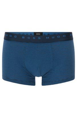 Gestreifte Boxershorts aus elastischer Baumwolle: 'Trunk Finestripe', Hellblau