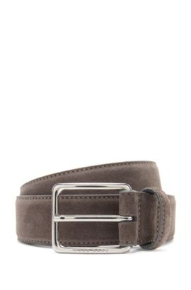 Plain belt in suede: 'Catioso_Sz35_sdpl', Dark Grey