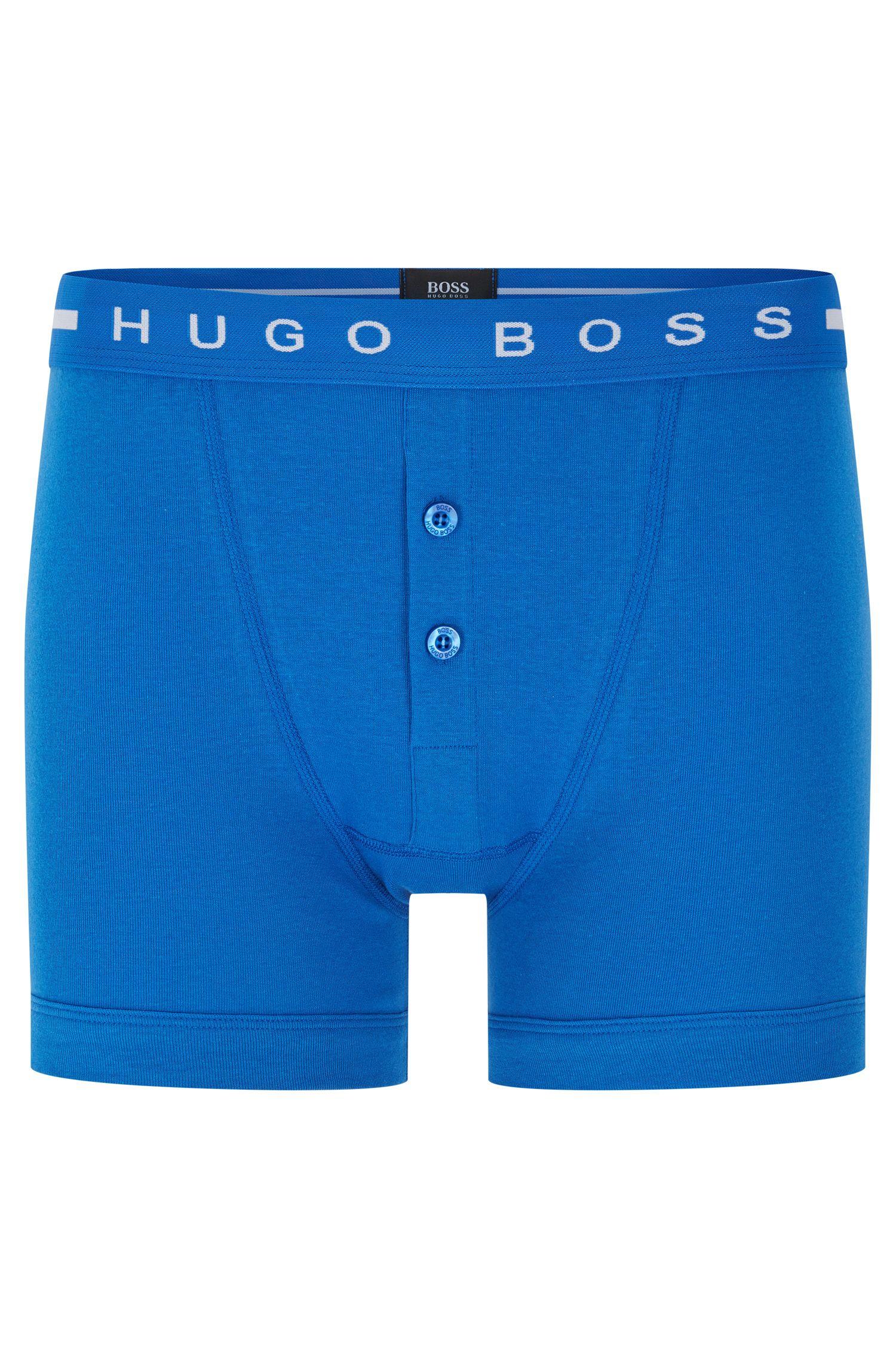 Unifarbene Boxershorts aus Baumwolle mit knöpfbarem Eingriff: 'Trunk BF Original'