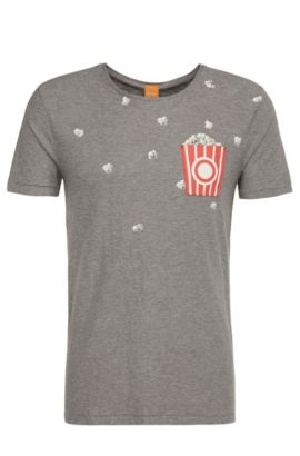 Regular-fit cotton t-shirt with print: 'Toolbox 2', Light Grey