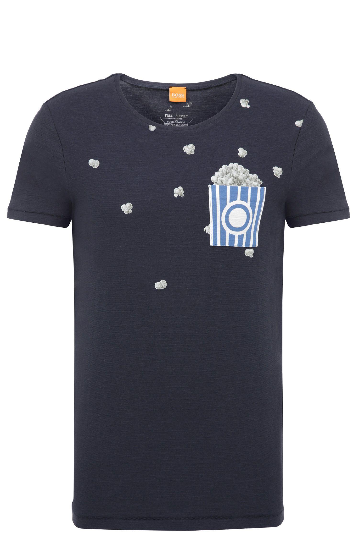 Regular-fit T-shirt van katoen met print: 'Toolbox 2'