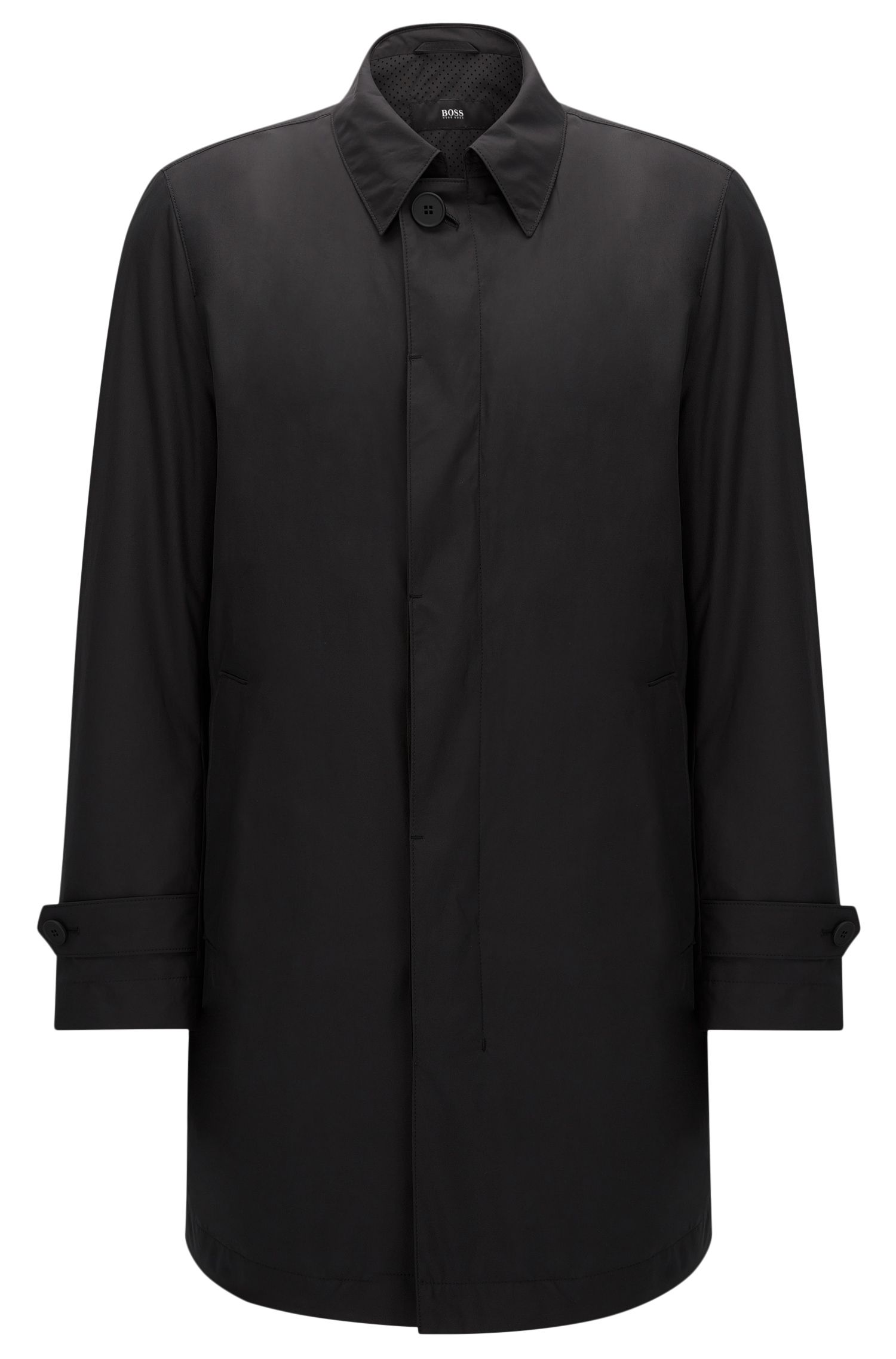 Water-repellent regular-fit coat with concealed button placket: 'Garret2'