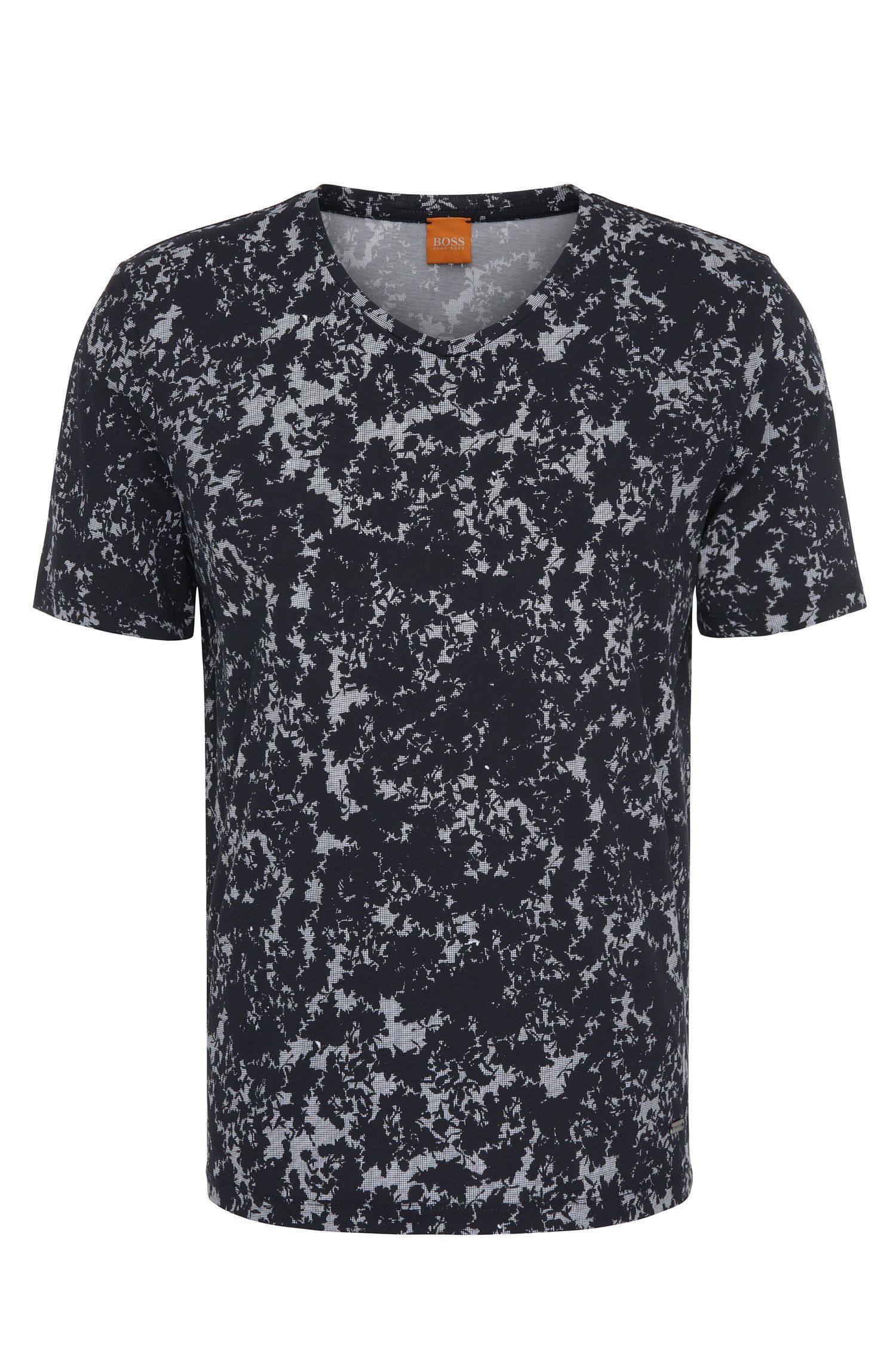 Relaxed-fit T-shirt van katoen met all-over-print: 'Topmost'