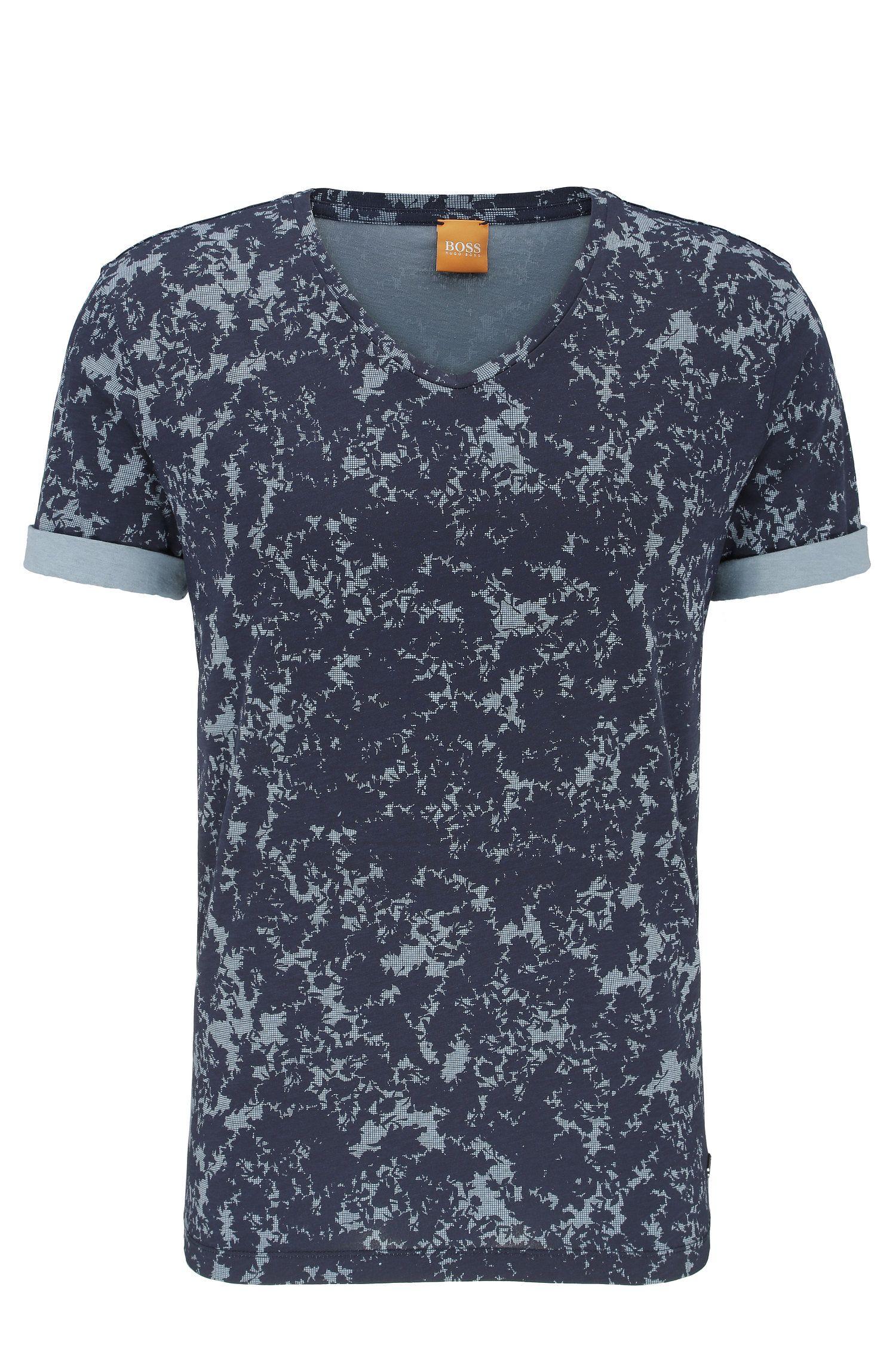 Camiseta relaxed fit en algodón con estampado integral: 'Topmost'