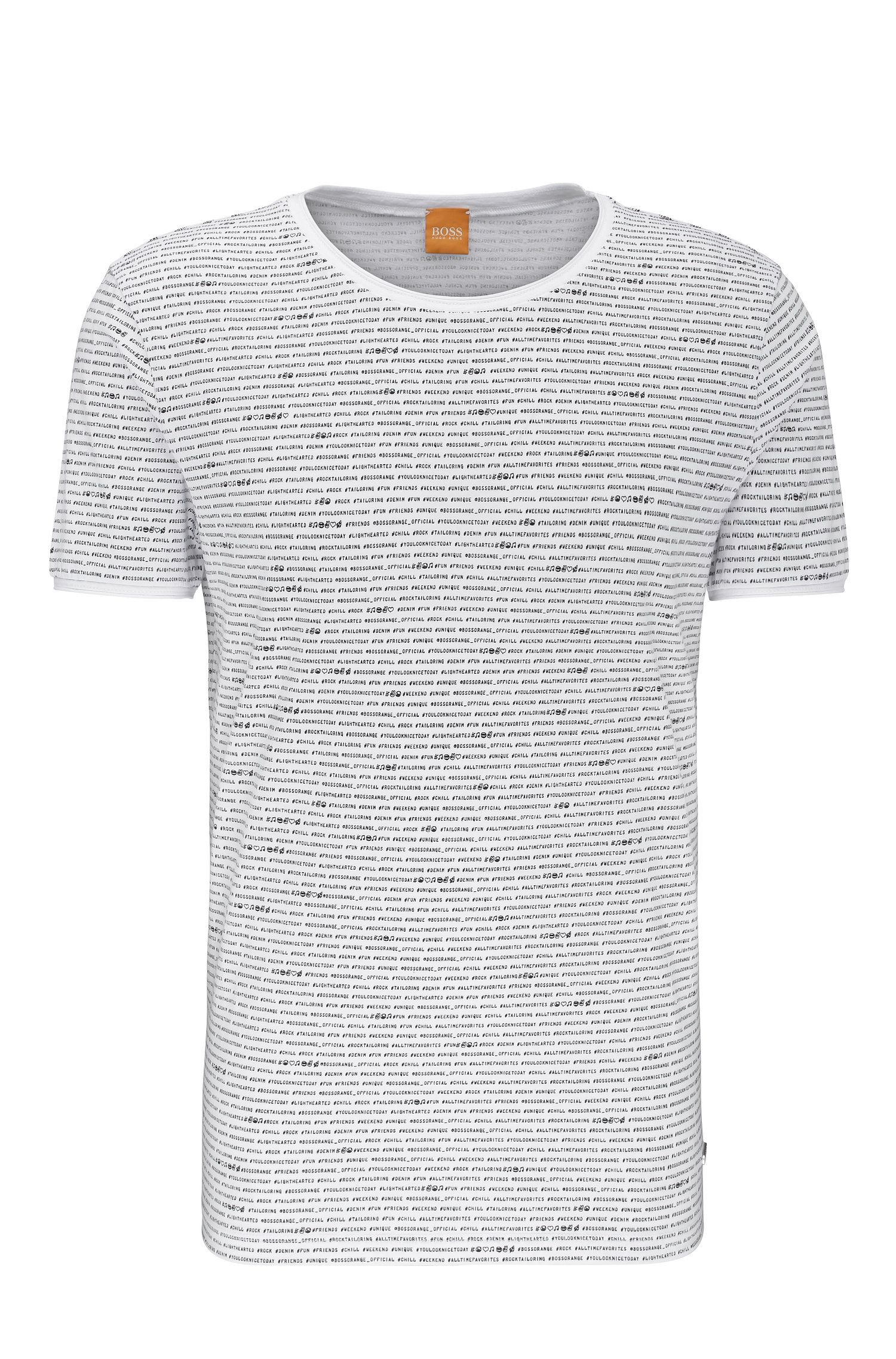 Relaxed-Fit T-Shirt aus Baumwolle mit Allover-Print: ´Text`
