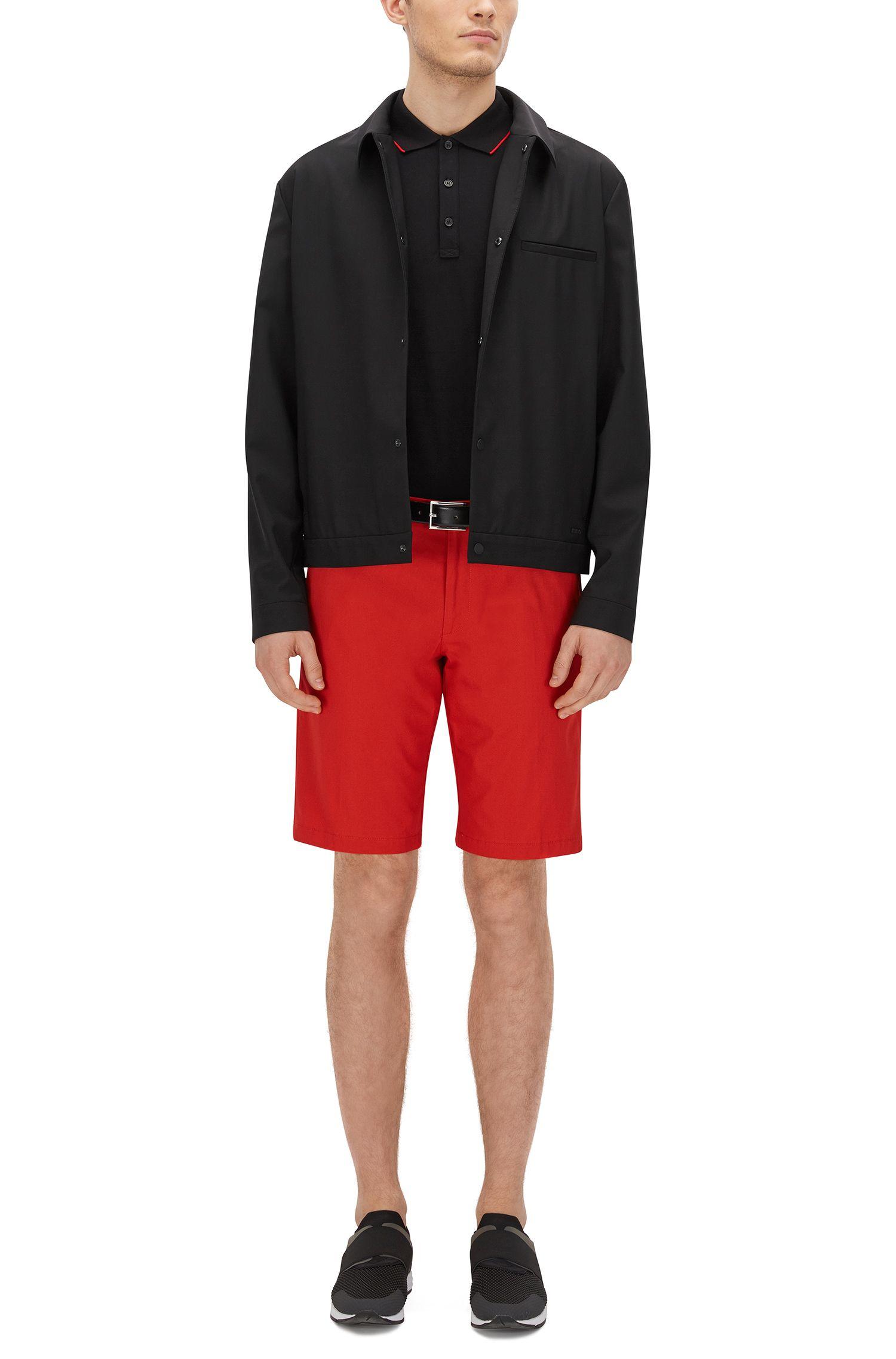 Polo Slim Fit en coton stretch à rayures contrastantes: «Delorian»