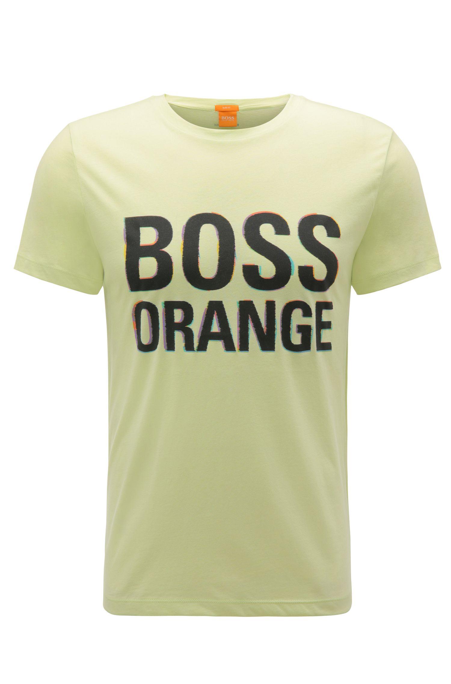 T-shirt slim fit in cotone con etichetta stampata: 'Tacket 5'