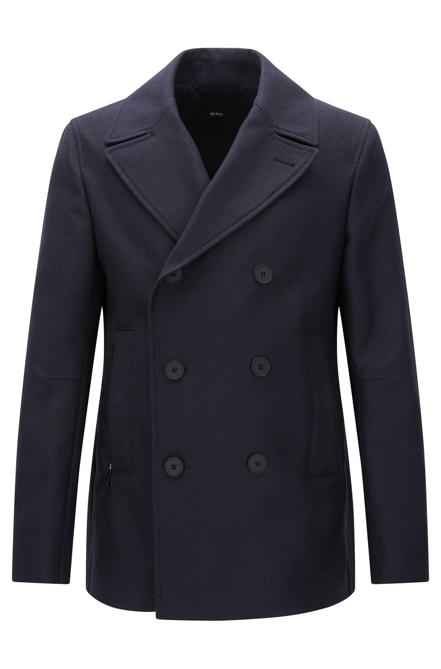 Manteau court Slim Fit en coton imperméable : « Namid »