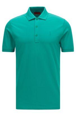 Polo Slim Fit en coton stretch: «Nono», Vert
