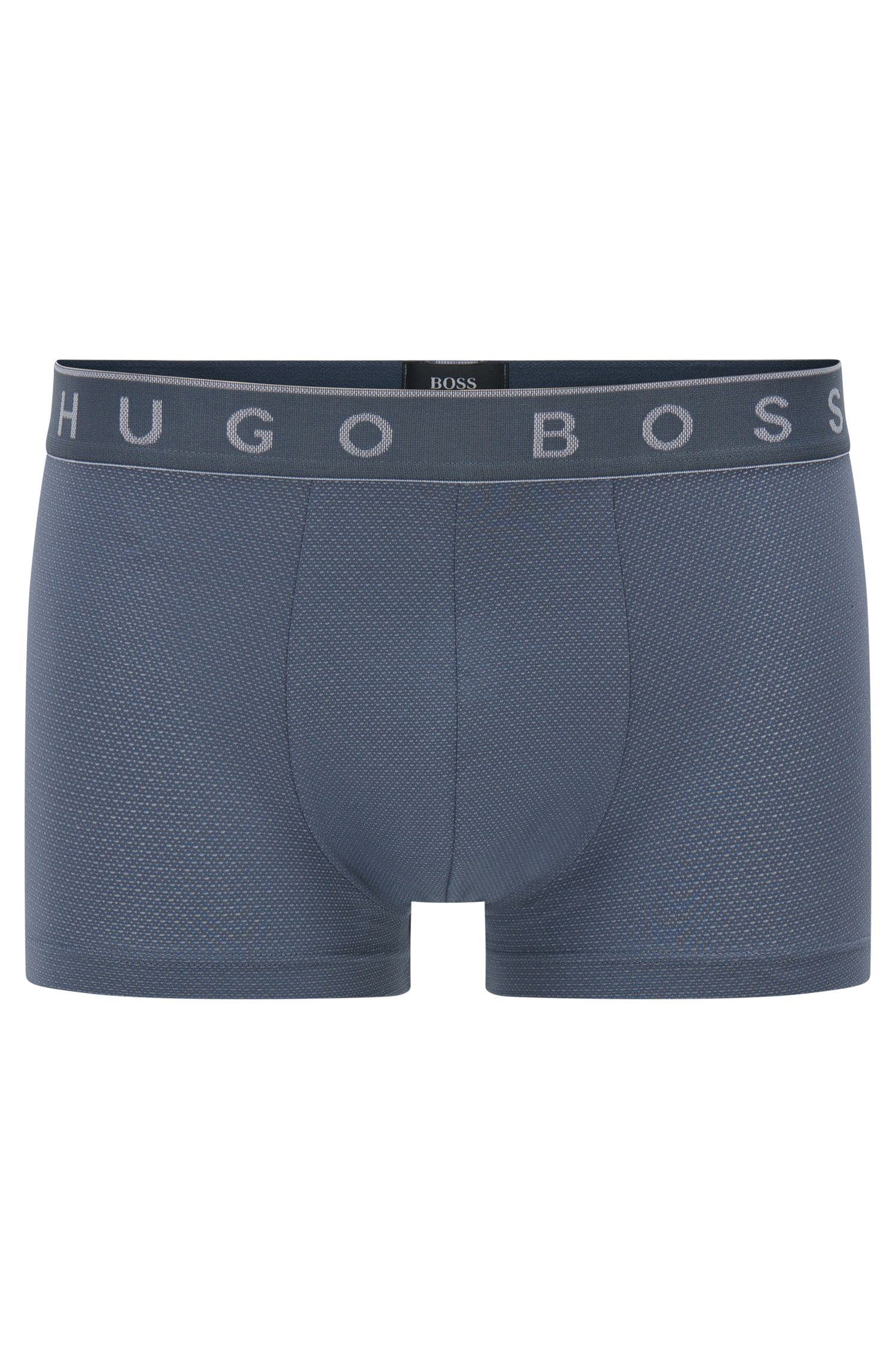 Boxer shorts in stretch cotton blend with modal: 'Trunk Microjacquard'