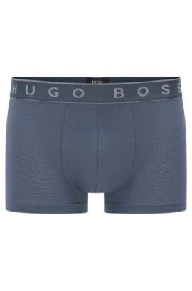 Boxer shorts in stretch cotton blend with modal: 'Trunk Microjacquard', Dark Grey