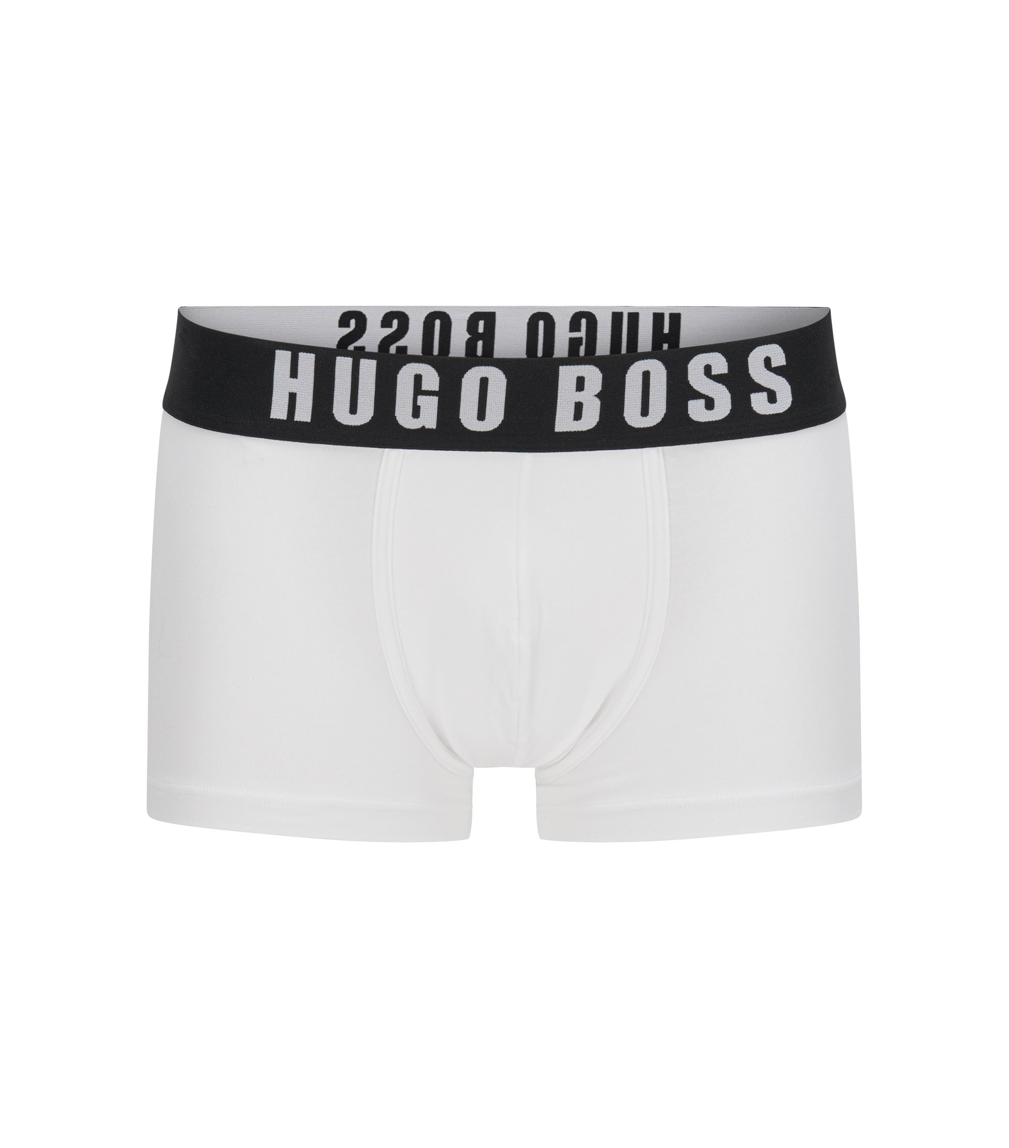 Boxer briefs with wide logo waistband , White