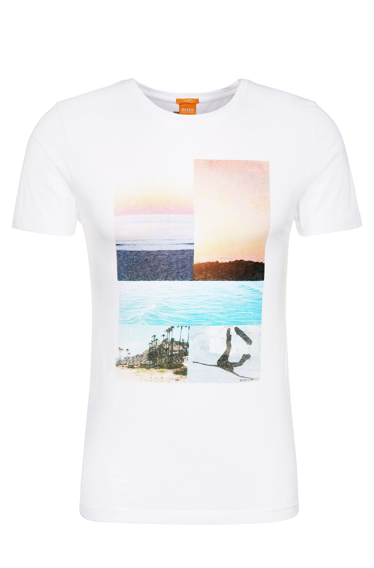 Print t-shirt in cotton: 'Tacket 3'