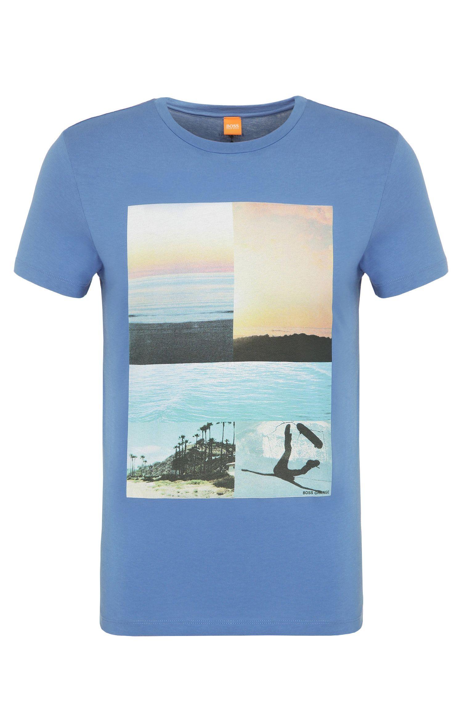 T-shirt imprimé en coton: «Tacket 3»