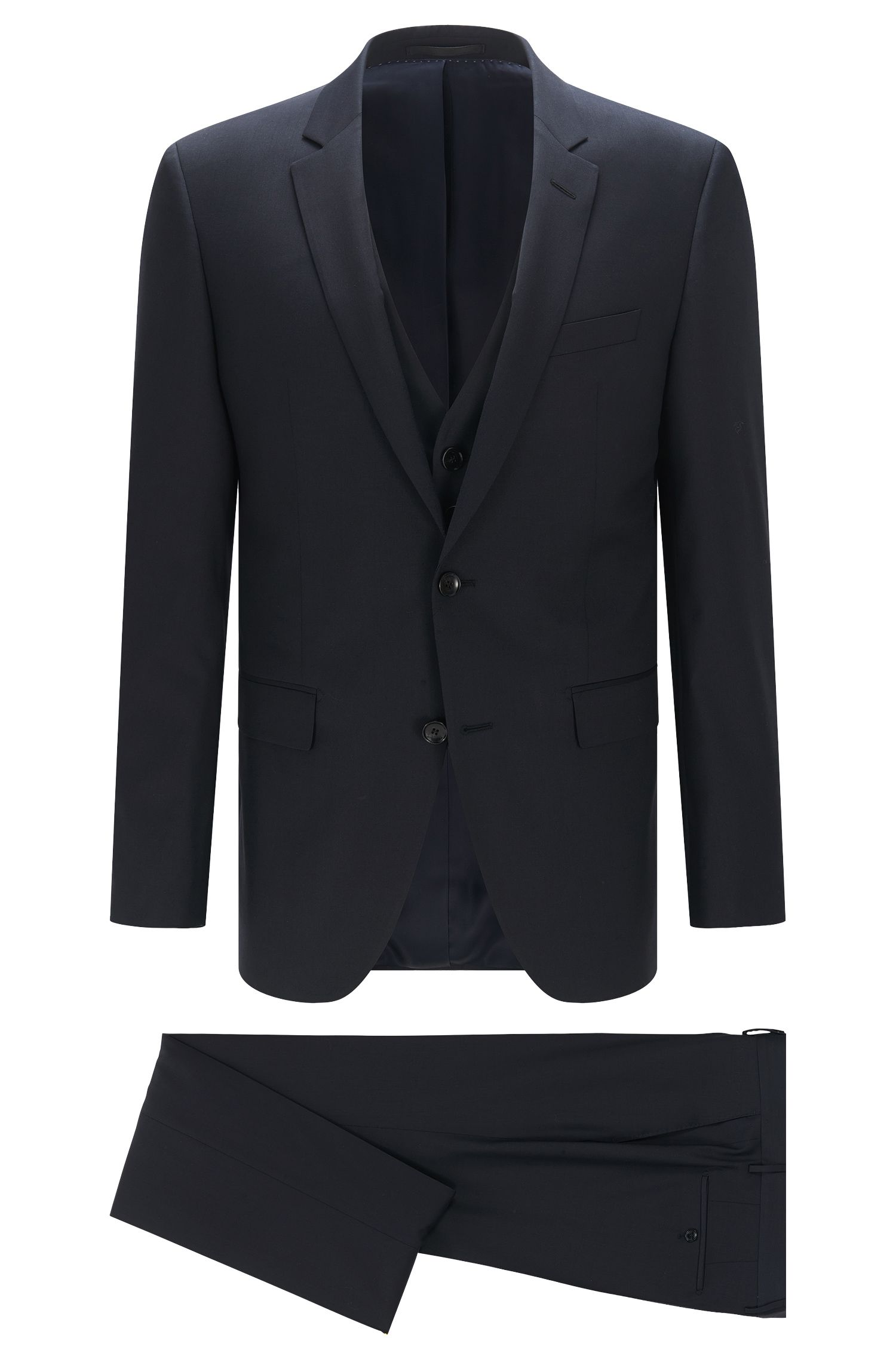 Slim-fit Tailored suit in new wool: 'T-Harvers2/Glover1WE3'