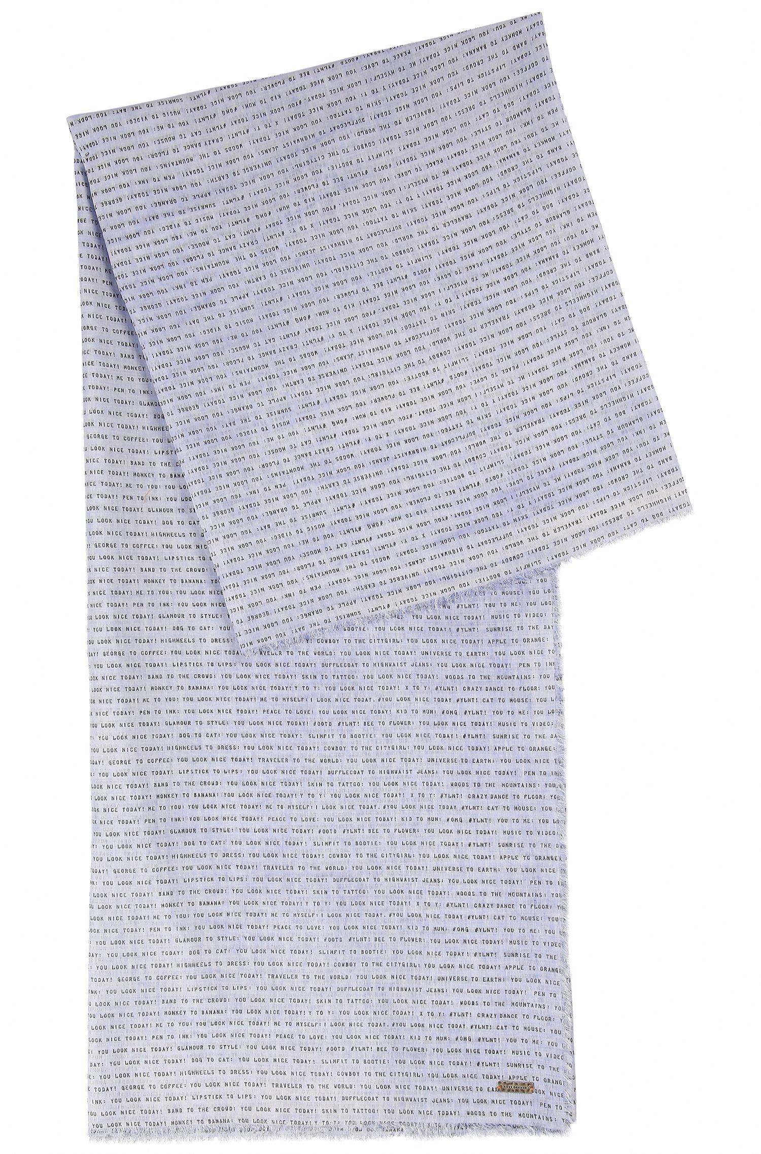 Bufanda de algodón ligero con eslogan impreso