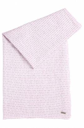 Schal aus leichter Baumwolle mit Sprüche-Print, Flieder