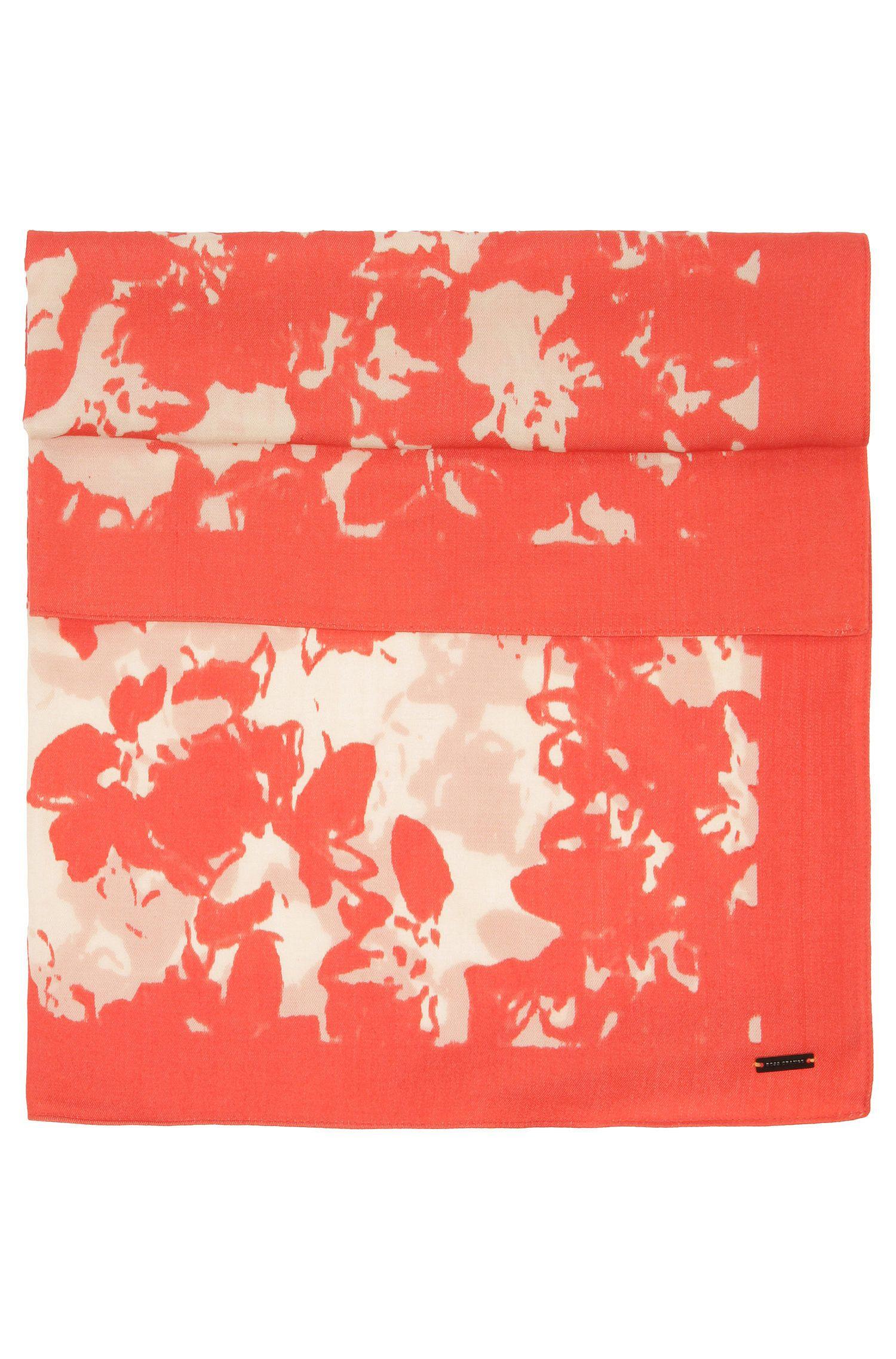 Pañuelo en mezcla de materiales con estampado de flores: 'Naflown'