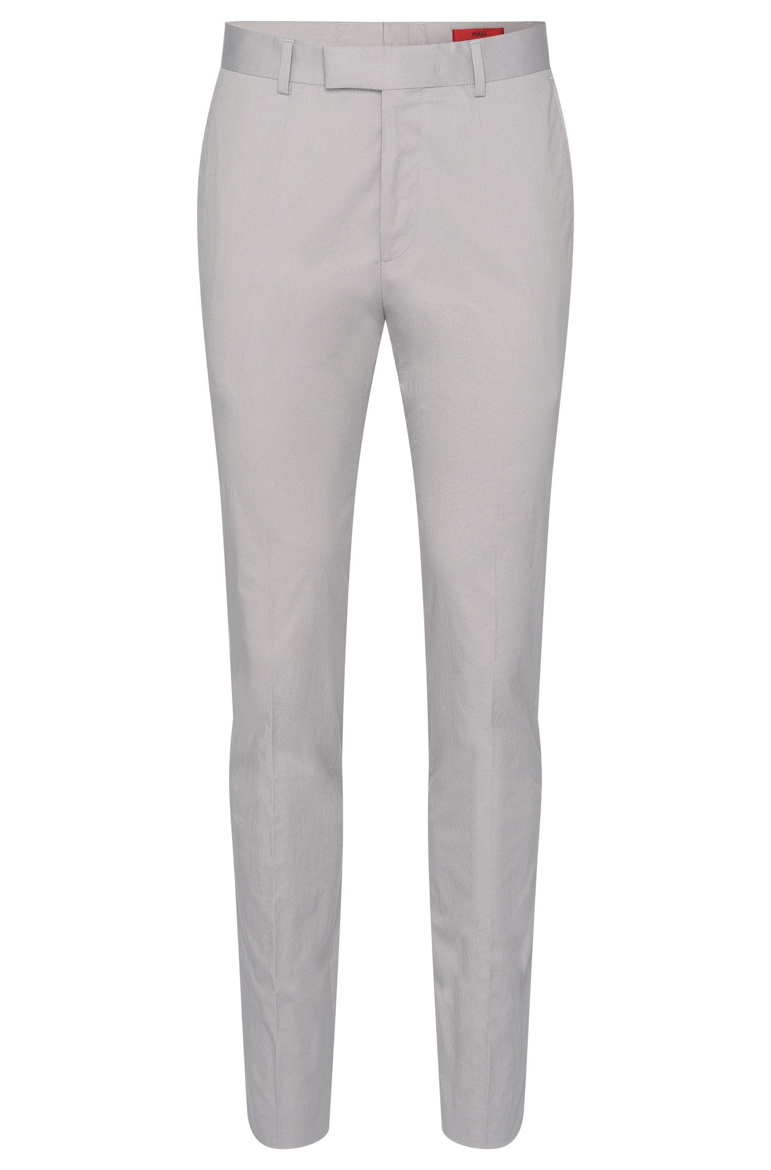Pantaloni extra slim fit in cotone elasticizzato con pieghe: 'Heiron'