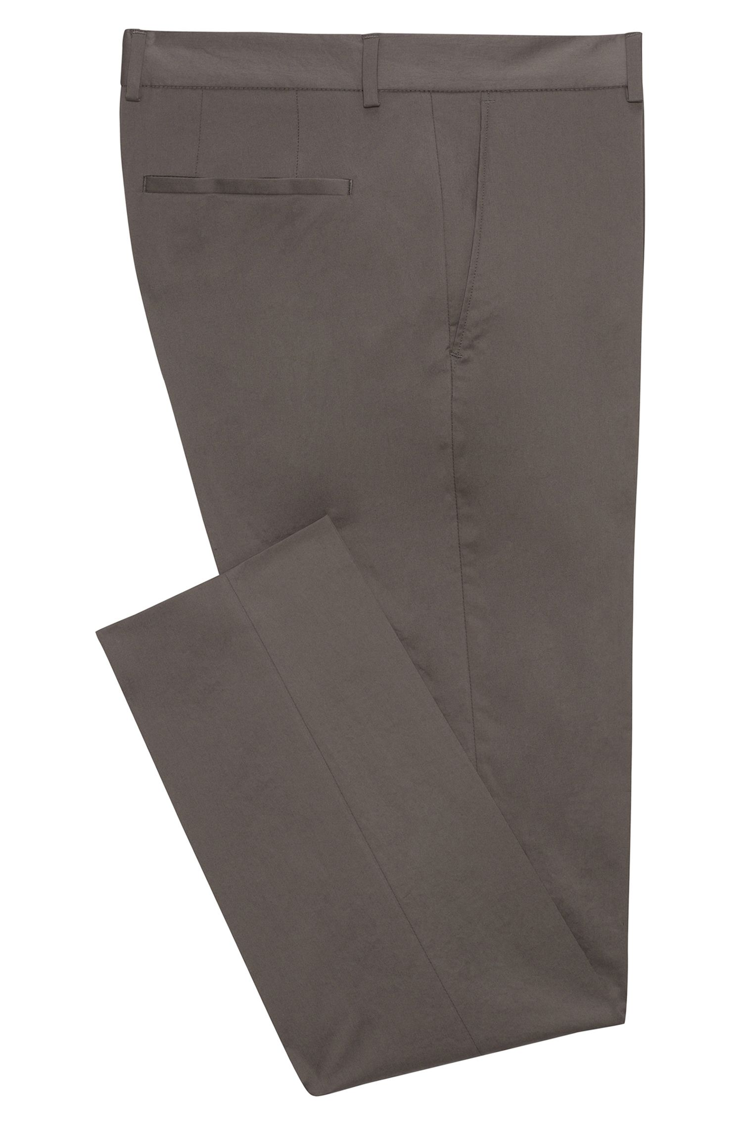 Extra-slim-fit trousers in stretch Oxford cotton