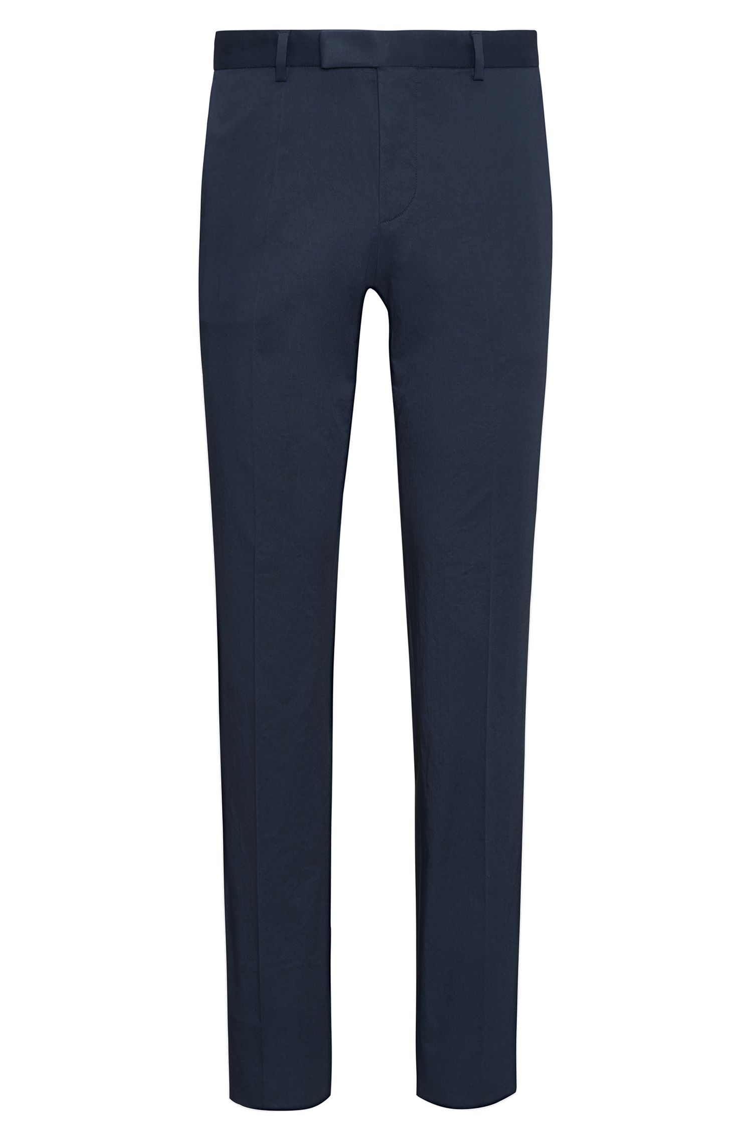 Pantalon extra Slim Fit en coton stretch, à plis marqués : « Heiron »