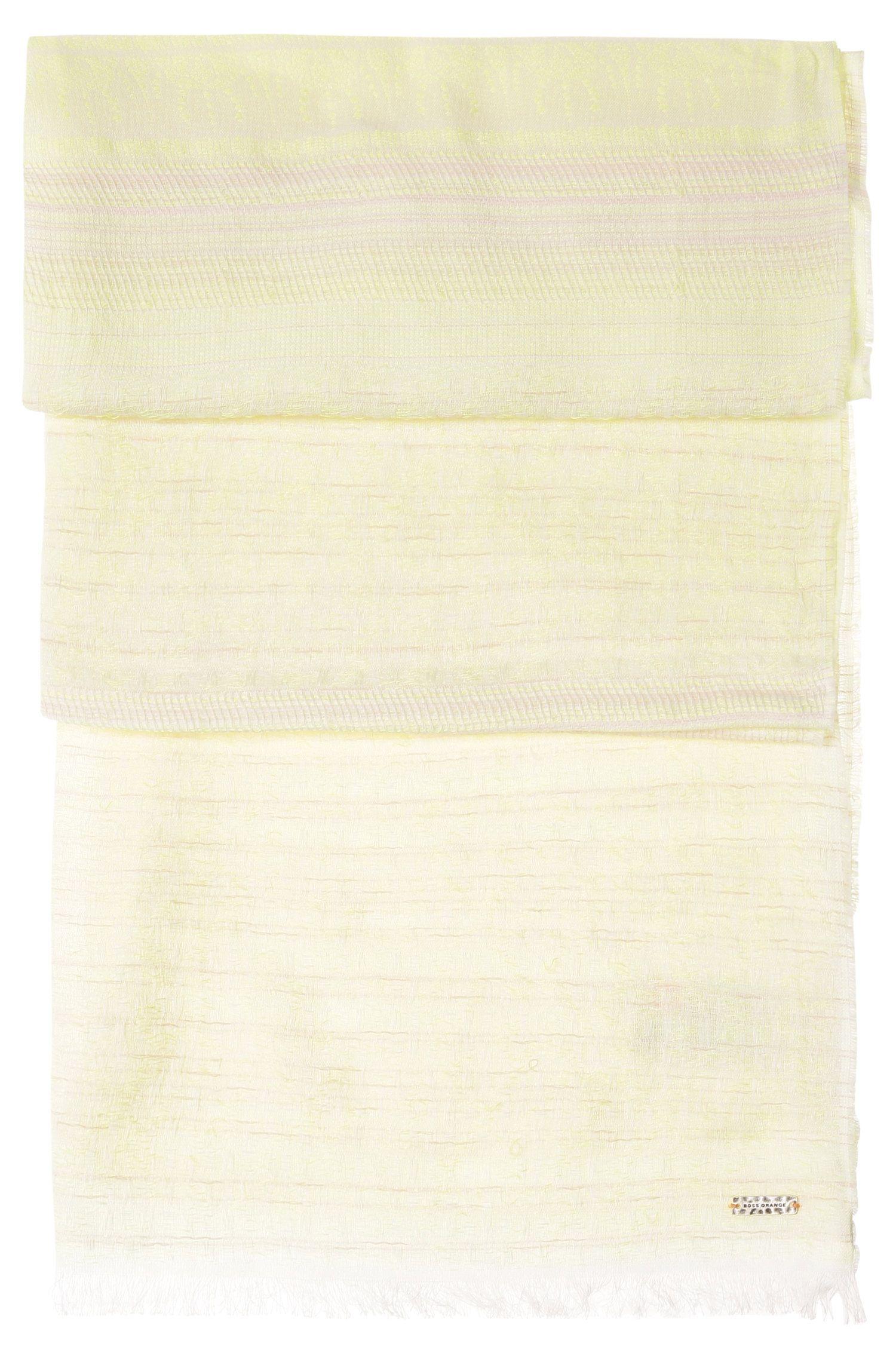 Schal aus Baumwoll-Mix mit Struktur: ´Nathread`