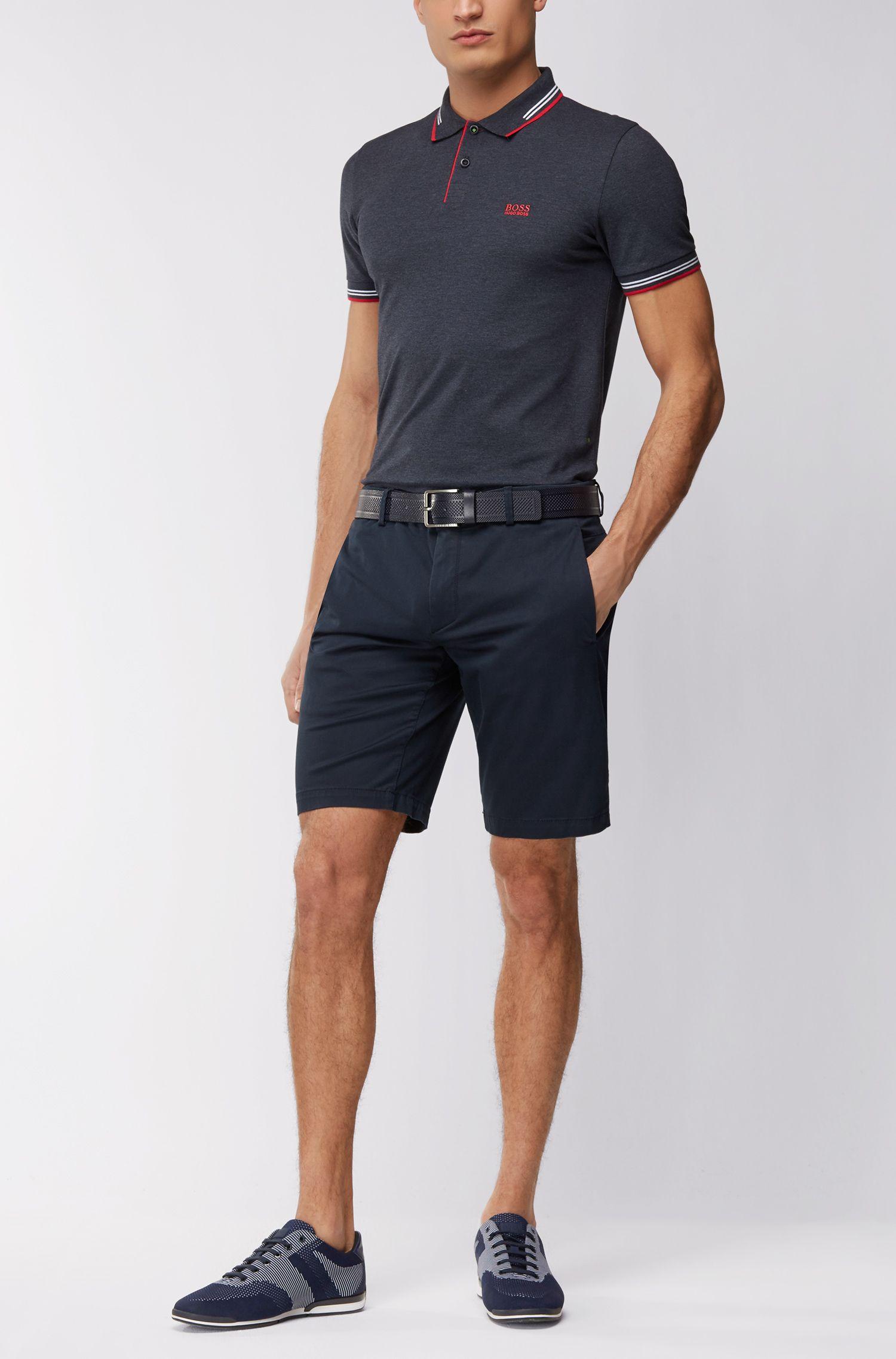 Slim-Fit Poloshirt aus elastischer Baumwolle