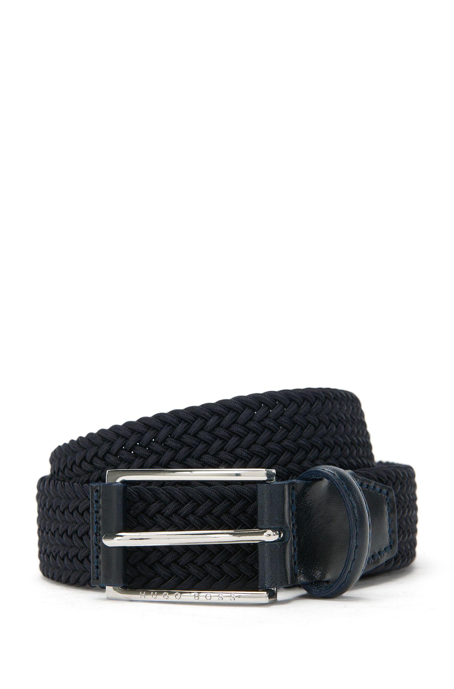 Cintura intrecciata con dettagli in pelle: 'Clori-WS_Sz30_wn'