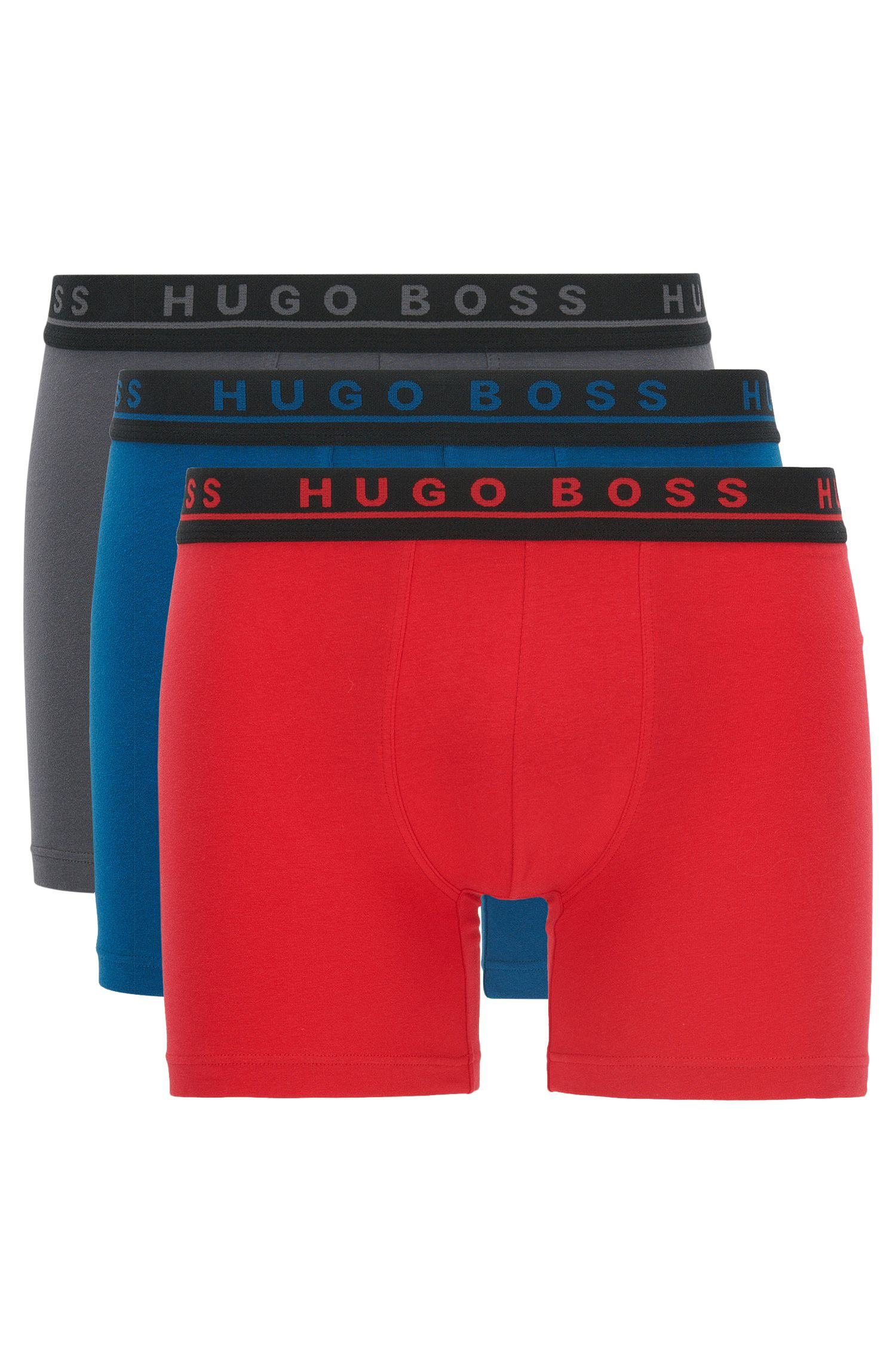 Three-pack of stretch cotton boxer briefs