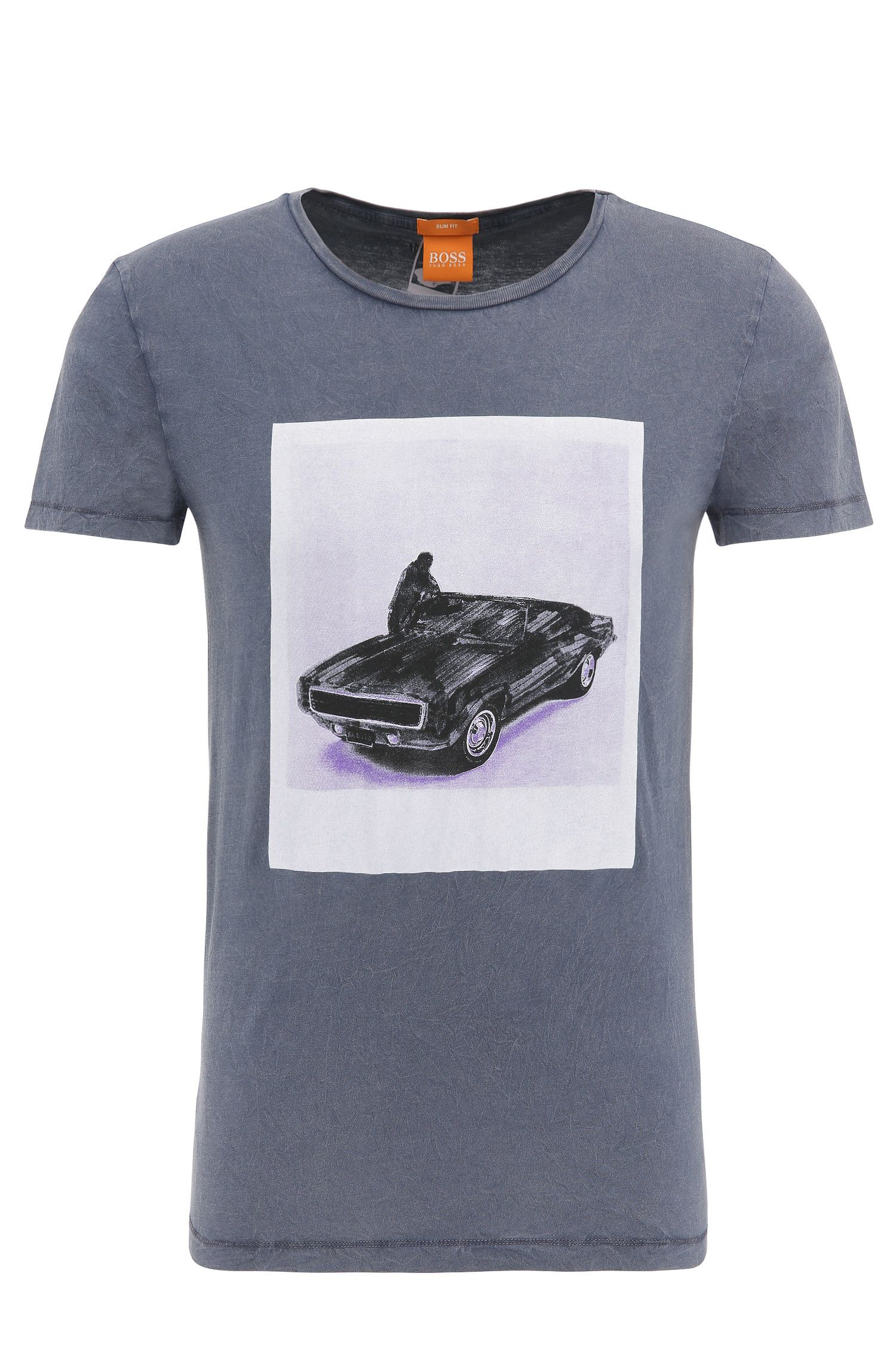 Slim-fit cotton t-shirt with photo print: 'Tasteful 1'