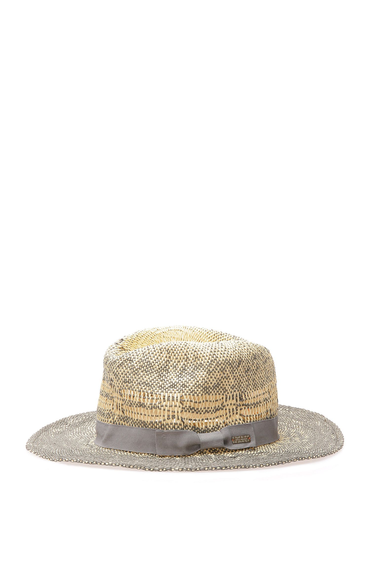 Summer hat in 2-tone straw paper: 'Frade'