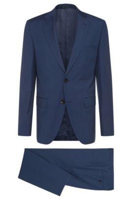Abito regular fit in lana vergine a righe sottili: 'Johnstons2/Lenon', Blu