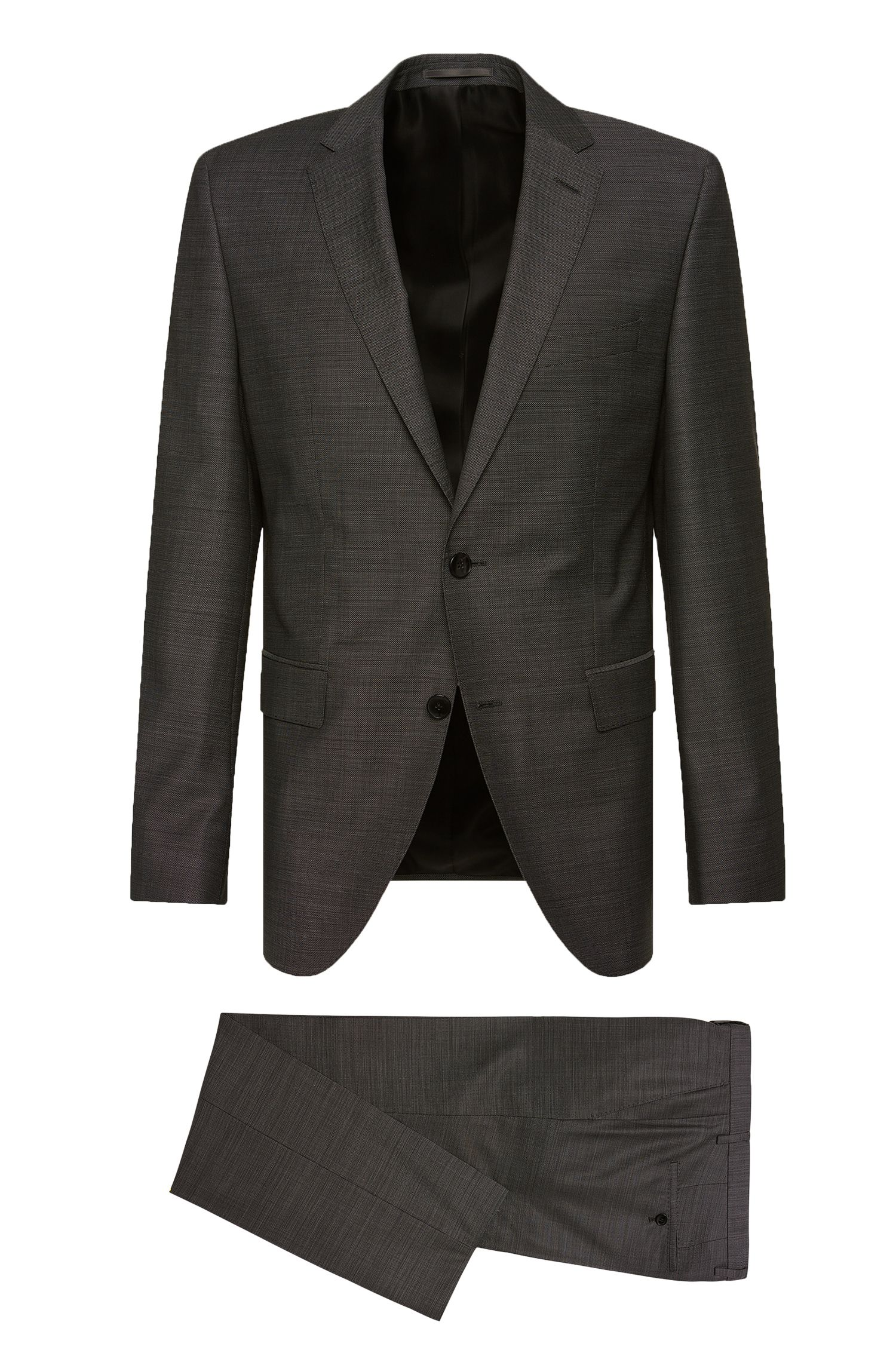 Regular-fit suit in textured new wool: 'Johnstons2/Lenon'