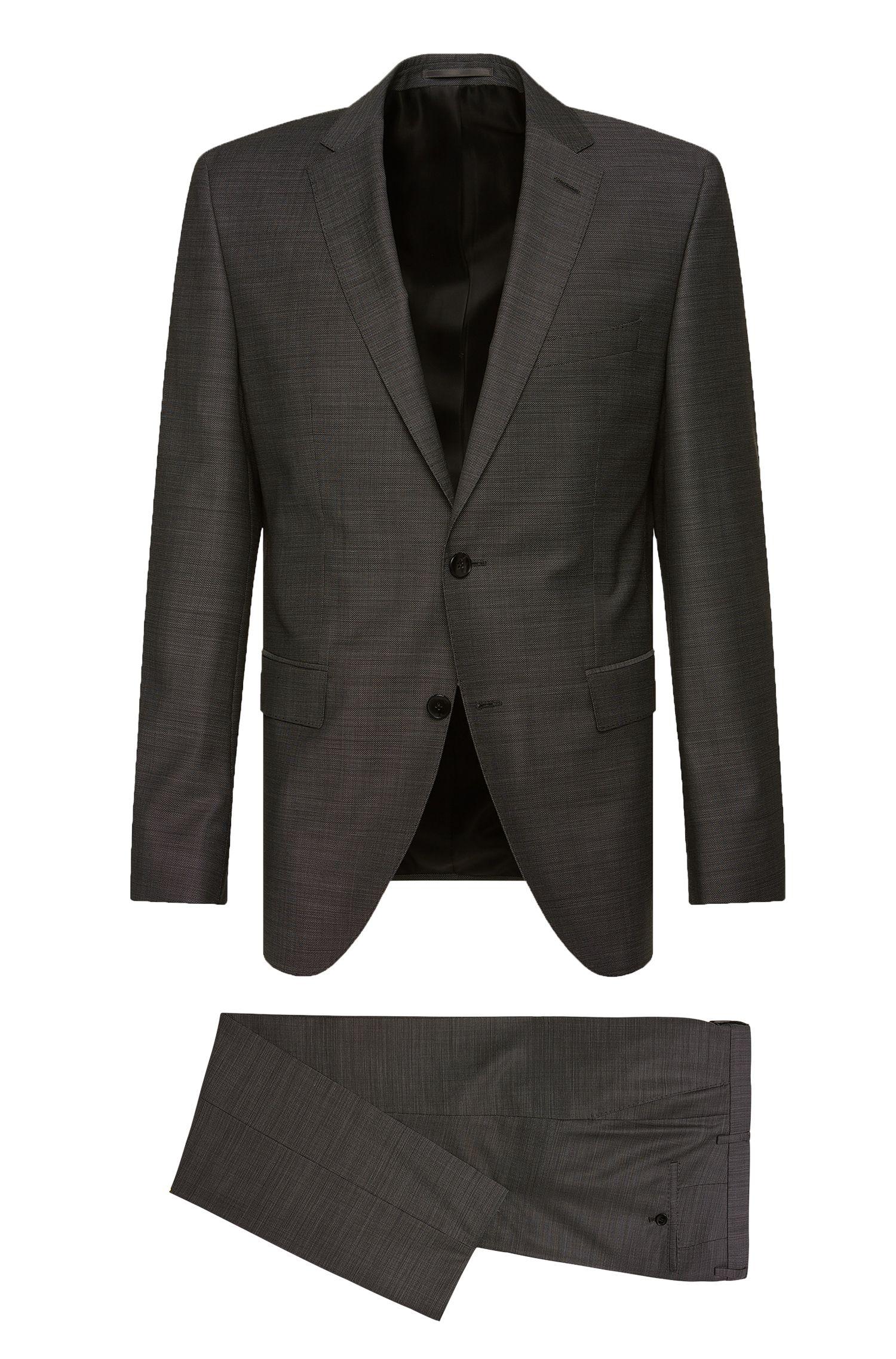 Regular-Fit Anzug aus strukturierter Schurwolle: 'Johnstons2/Lenon'