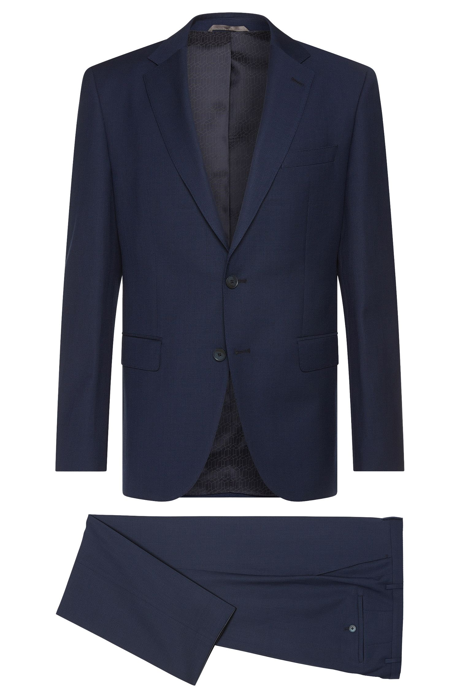 Regular-fit suit in new wool blend with linen and silk: 'Jewels1/Linus'