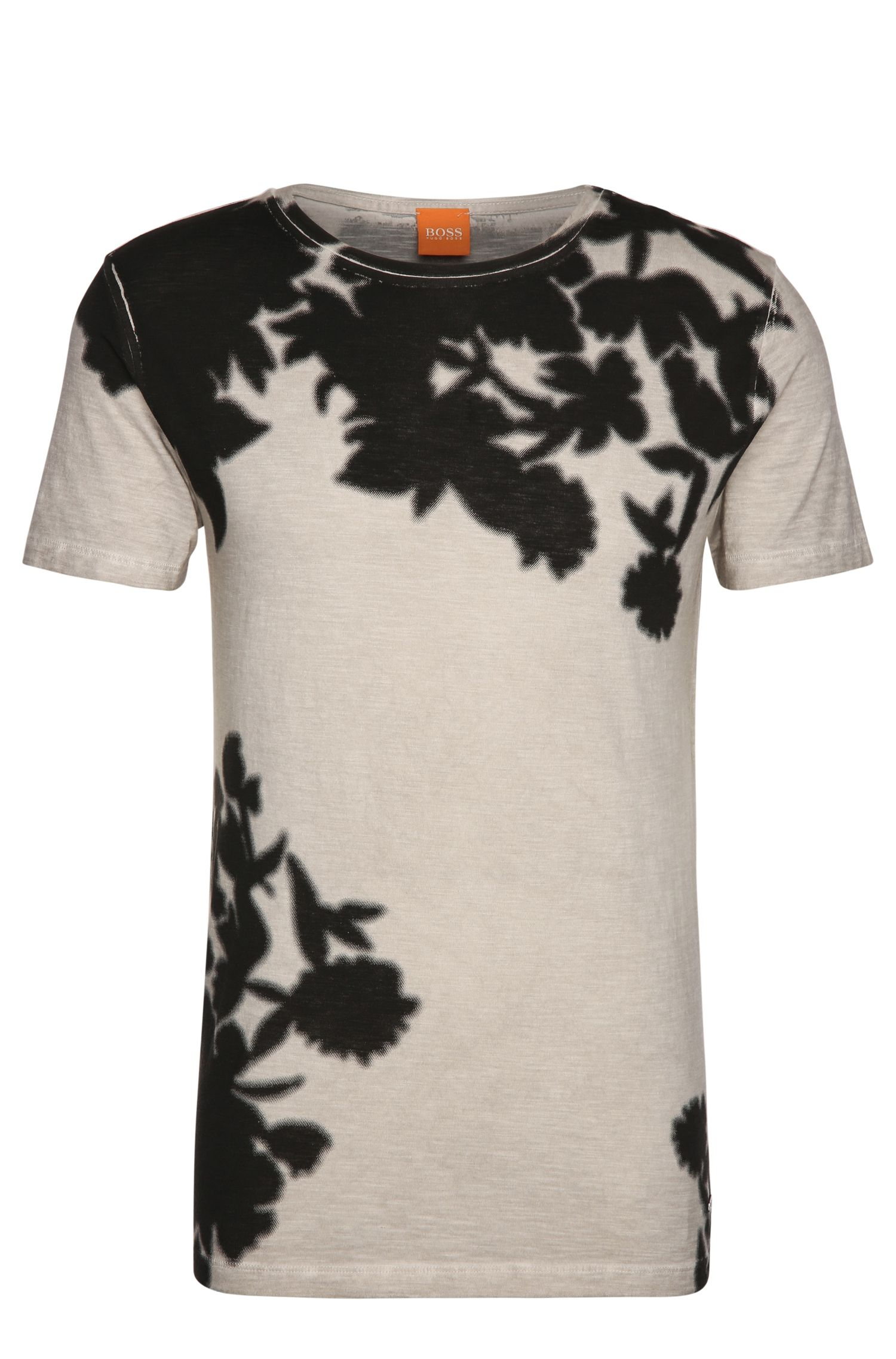 Camiseta de punto teñida en prenda elaborada en algodón: 'Trusted'