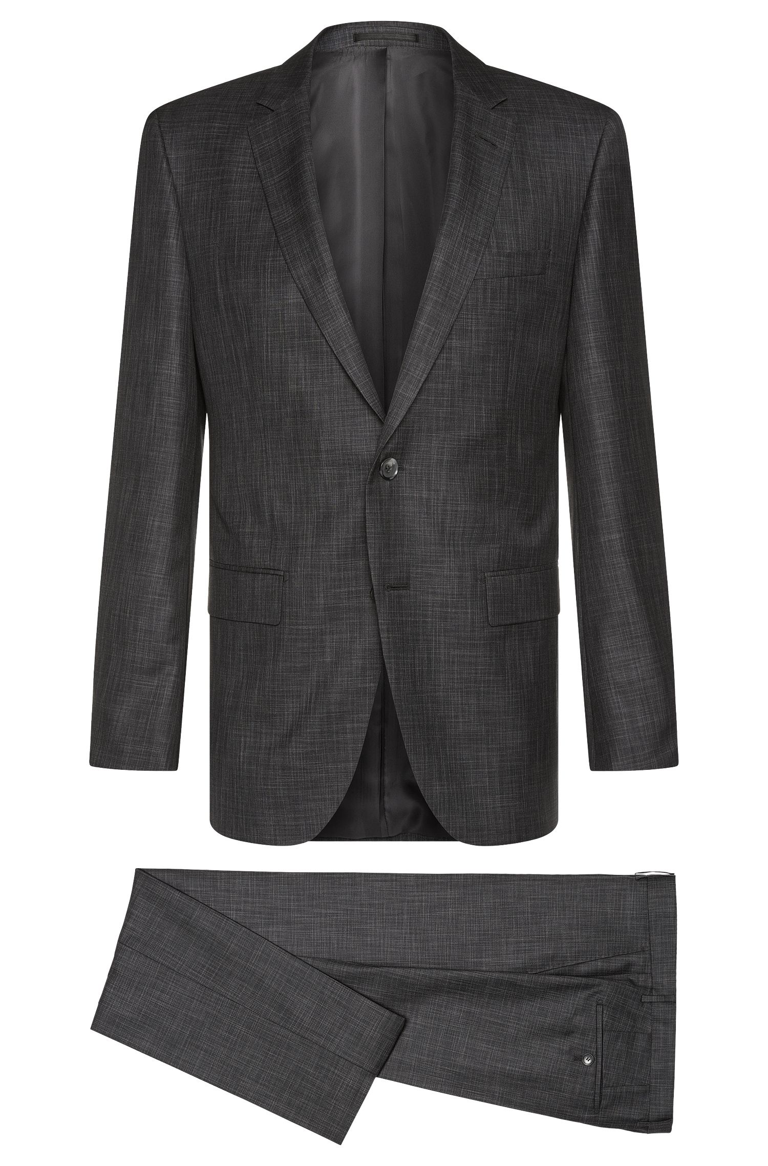 Costume Slim Fit Tailored en laine vierge mélangée à de la soie : « T-Harvers2/Glover1 »