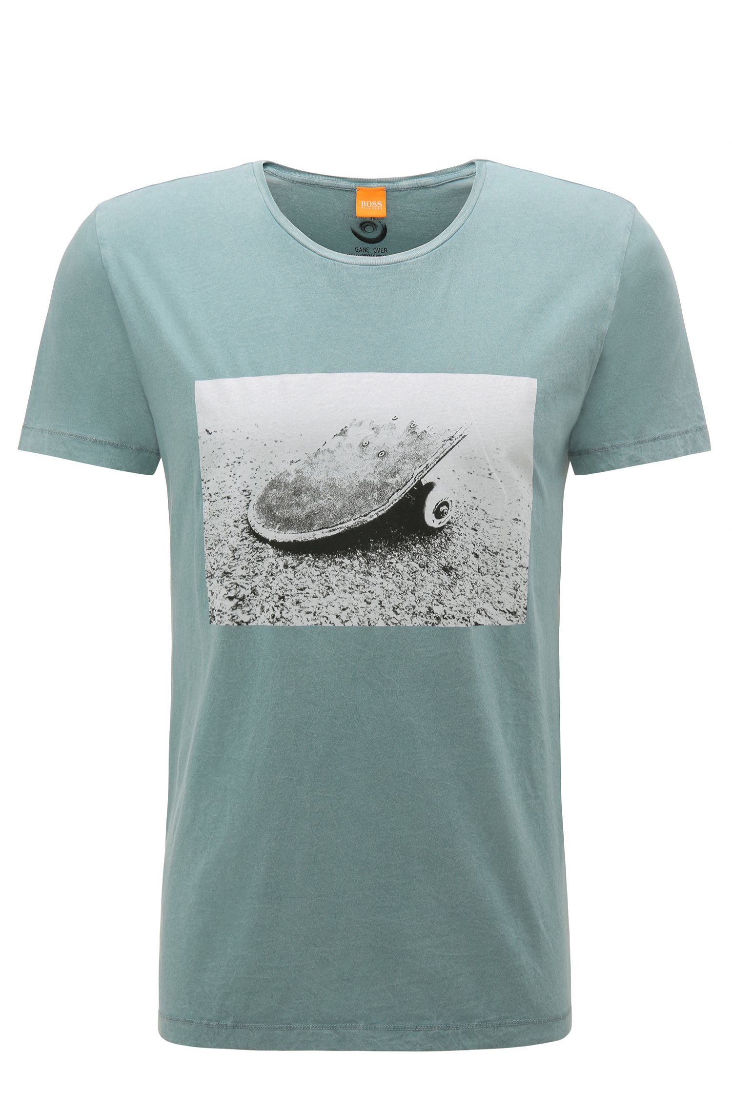 Regular-fit T-shirt van katoen met fotoprint: 'Tasteful 2'
